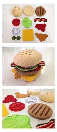 https://www.facebook.com/justynazakrockacom #felt #food #feltfood #hamburger #toys #filc