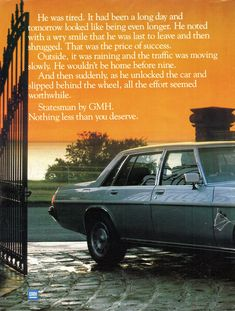 1982 WB Statesman Caprice Series I By Holden Page 1 Aussie Original Magazine Advertisment Australian Vintage, Australian Cars, Holden Australia, Vintage Posters, Muscle Cars, Classic Cars, Advertising, Magazine, General Motors