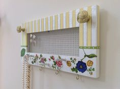Jewelry Screen Organizer Hand Painted With by sharonmooradian, $70.00