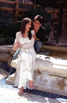 Aishwarya Rai Bachchan and Shah Rukh Khan.