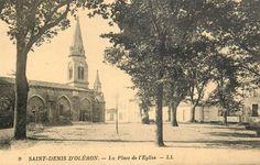 Saint-Denis, l'église - Ile d'Oléron vintage, Charente-Maritime, France