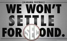 We won't settle for anything but National Championship No. 16! ~ Check this out too ~ RollTideWarEagle.com sports stories that inform and entertain. Plus Train Deck FREE online football tutorial to learn the rules of the game you love, #Collegefootball #Alabama #RollTide