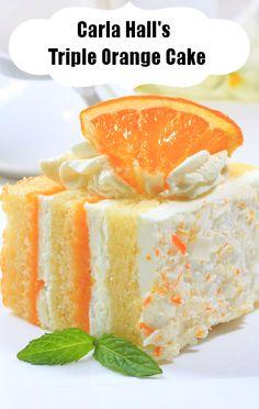 Carla Hall Triple Orange Cake Recipe