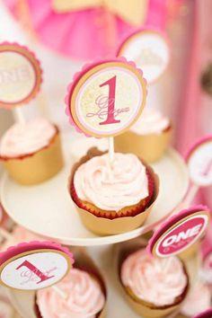 Royal PRINCESS 1st Birthday Party Via Karas Ideas KarasPartyIdeas Cake Banners