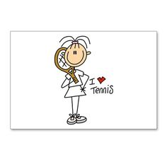 Girl I Love Tennis Postcards (Package of by PeacockCards - CafePress Capsule Video, Birthday Lunch, Birthday Postcards, Watercolor Painting Techniques, Tennis Quotes, Group Art, Stick Figures, Sports Art, Cartoon Pics