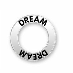 Antique silver both sides dream message charm for dreamers ,dream message ring charm .