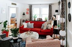 Cure for a Humdrum Living Room: Plenty of Pattern | Apartment Therapy Main | Bloglovin'