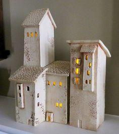 San Gimignano Pottery | Ceramic Houses Tuscany Hill Town Italian Hill by PotterybyJohn, $175 ...