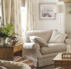 Find sophisticated detail in every Laura Ashley collection - home furnishings, children's room decor, and women, girls & men's fashion. Cottage Living Rooms, Home Living Room, Living Room Furniture, Living Room Decor, Living Spaces, Little Corner, Childrens Room Decor, Cozy House, Home Collections