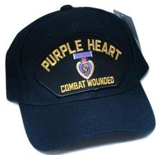 Vintage Purple Heart Combat Wounded Low Profile Ball Cap Never Worn 79f7838be6c3