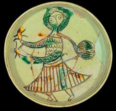 woman dancer on Byzantine plate