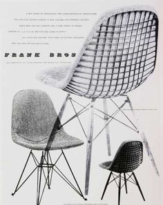 Furniture Ads of the 1950s:  Frank Bros, the first retailer of Herman Miller in Southern California
