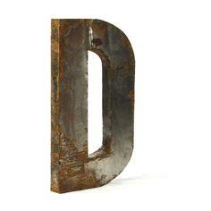 Letter D Metal Wall Art - 24W x 36H in. | www.hayneedle.com