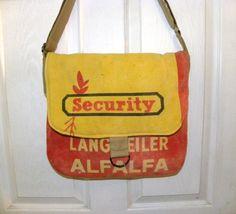 Vintage Francks Security seed sack upcycled by LoriesBags on Etsy
