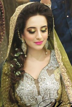 I love the green eyeshadow; I don't care if it's someone's mendhi wedding photo! :-)
