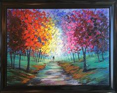 """Saatchi Art Artist Ethan Friedman; Painting, """"Lovers walk"""" #art"""
