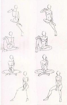 Sketches 29 - Woman sitting practice by Azizla.deviantart.com on @deviantART