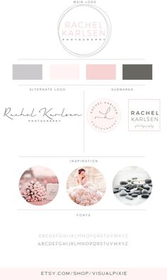 Branding Package  Geometric Photography Logo Square by VisualPixie