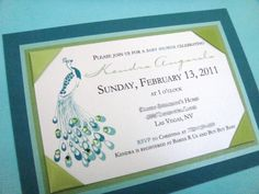 bridal shower invitations @Joni Martin What do you think? My bridesmaids are willing to help you make them :)