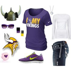 Minnesota Vikings, created by carri-dolney on Polyvore