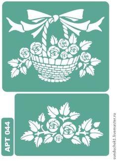 Stencil 044 - verde, plantilla, plantillas, decoupage, materiales para el trabajo creativo