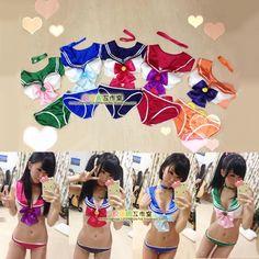 新款 Cospaly日本动漫服装 COS美少女战士性感比基尼内衣泳装系列-淘宝网