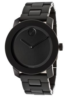 Movado 3600047 Watches,Bold Black Dial Black Polyurethane, Men's Movado Quartz Watches