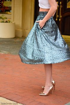 Extremely Stylish Looks with Sequin Skirt