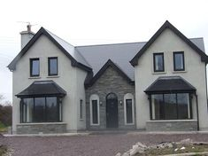 ICYMI: two storey house designs ireland House Designs Ireland, Houses In Ireland, Ireland Homes, Cool House Designs, Modern House Design, Dormer House, Dormer Bungalow, Bungalow House Plans, Dream House Plans