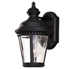 Castle Black Outdoor One-Light Wall Mount