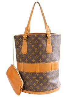 d1d8847993b6a Louis Vuitton by The French Co Monogram Bucket Bag Tote and Coin Purse  1970s Vintage Rare