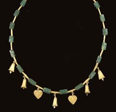 Roman Gold and Glass Necklace, ca. 2nd-3rd Century, A.D.