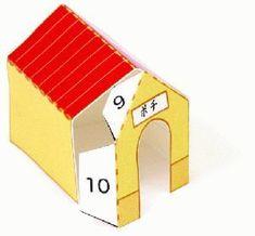 TODORECORTABLES SUEÑOS DE PAPEL: CASAS DE RECORTABLES Paper Doll House, Paper Houses, Paper Bag Crafts, Paper Toys, Dollhouse Miniature Tutorials, Dollhouse Miniatures, Mini Chair, Origami, Projects To Try