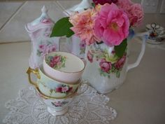bunny cottage: Tea Cups and Friends. . . Pink Saturday and Teacup Tuesday