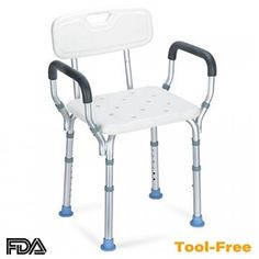 OasisSpace Heavy Duty Shower Chair with Back – Bathtub Chair with Arms for Handicap, Disabled, Seniors & Elderly – Adjustable Medical Bath Seat Handles – Non Slip Tub Safety Shower Seat, Bathtub Shower, Shower Benches, Shower Chairs For Elderly, Bath Chair For Elderly, Bathroom Chair, Bathroom Safety, Bath Seats, Adjustable Legs