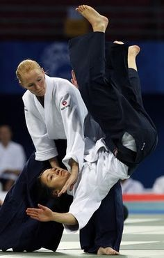 Japanese martial art: Aikido… where you redirect your opponents moves. It's great for children, women, and seniors.