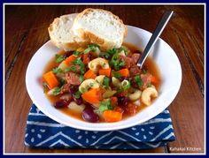 """Kahakai Kitchen: Portuguese Bean Soup for Souper (Soup, Salad & Sammie) Sundays & October's Food & Flix: """"Mystic Pizza"""""""