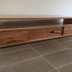 Wormy Chestnut Timber Tv Unit