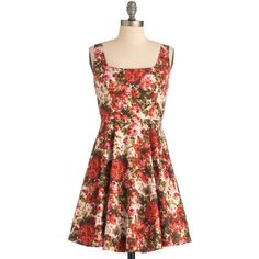 Very Berry Charming Dress in Flowers ($14) ❤ liked on Polyvore featuring dresses, berry dress, cotton dresses, cotton stretch dress, blossom dress and stretchy dresses