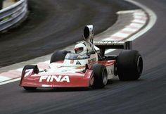 José Dolhem - Team Surtees in an attempt to classify the Surtees TS16 for the GP of France 1974, in the Circuit Dijon-Prenois ...  Dolhem The French did not align your car on the grid ...