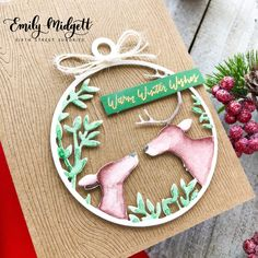"""I wanted to share one last """"wintry"""" card with you today featuring a project that I made for the Hero Arts Season of Wonder catalog. For my project, I wanted to showcase th… Christmas Cards 2018, Winter Cards, Hero Arts, Wish, Seasons, Christmas Ornaments, Holiday Decor, Projects, Street"""