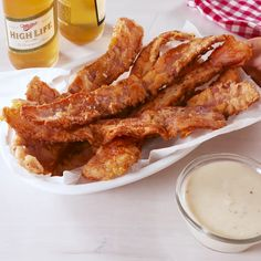 Chicken Fried Bacon looks good. But, I would add more seasonings though lol Fried Bacon Recipes, Pork Recipes, Cooking Recipes, Bacon Bacon, I Love Food, Good Food, Yummy Food, Tasty Videos, Meat Recipes