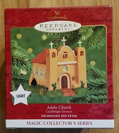 Hallmark Christmas 2000 Adobe Church #3 Candlelight Services Series Ornament