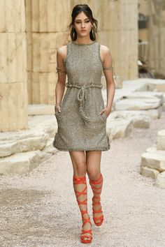 Chanel: Boucle sleeveless dress - Please click to see the complete Chanel Resort 2018 collection #greciangoddess...x