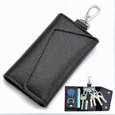 5.46$  Know more - New Arrival Men Genuine Cow Leather Bag Coin Purse Business Car Key Wallets Fashion Women Housekeeper Key Holders   #buyininternet