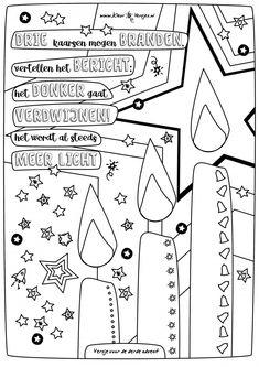 #060 | Tweede advent • kleurversjes.nl