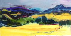 Landscape painting inspired by New Zealand. Oil on board Ltd Giclee prints available.