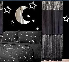 moon wall decorations-stars wall decorations-celestial theme bedrooms