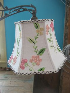 uno shade in vintage french knot by lampshadelady on Etsy, $85.00
