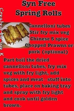 Slimming world spring rolls More